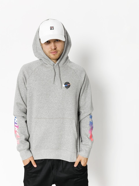 Bluza z kapturem Nike SB Sb Icon Gfx HD (dk grey heather/white)