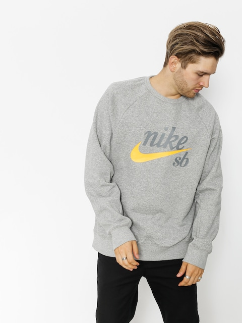 Bluza Nike SB Sb Top Icon Crw Gfx Hrtg (dk grey heather/laser orange)