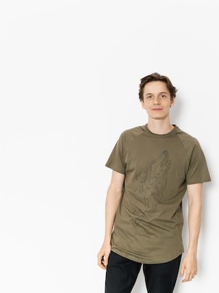 T-shirt Majesty Wolf (army green)