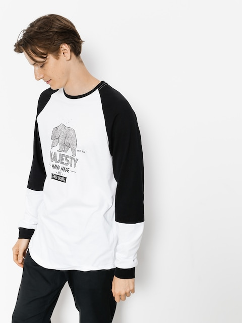 Longsleeve Majesty Bear (black/white)
