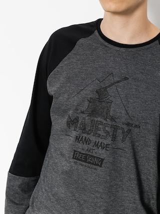 Longsleeve Majesty Lumberjack (black/graphite)