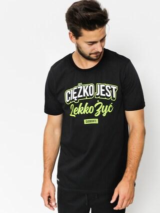 T-shirt Diamante Wear Cieżko Jest Lekko Żyć (black)