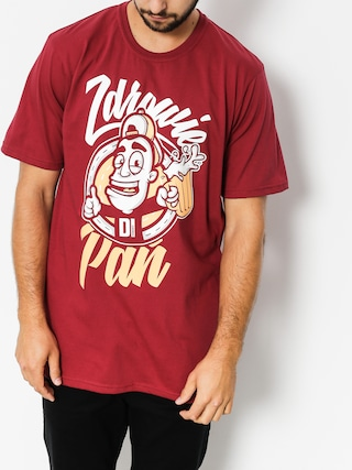 T-shirt Diamante Wear Zdrowie Pau0144 (burgundy)