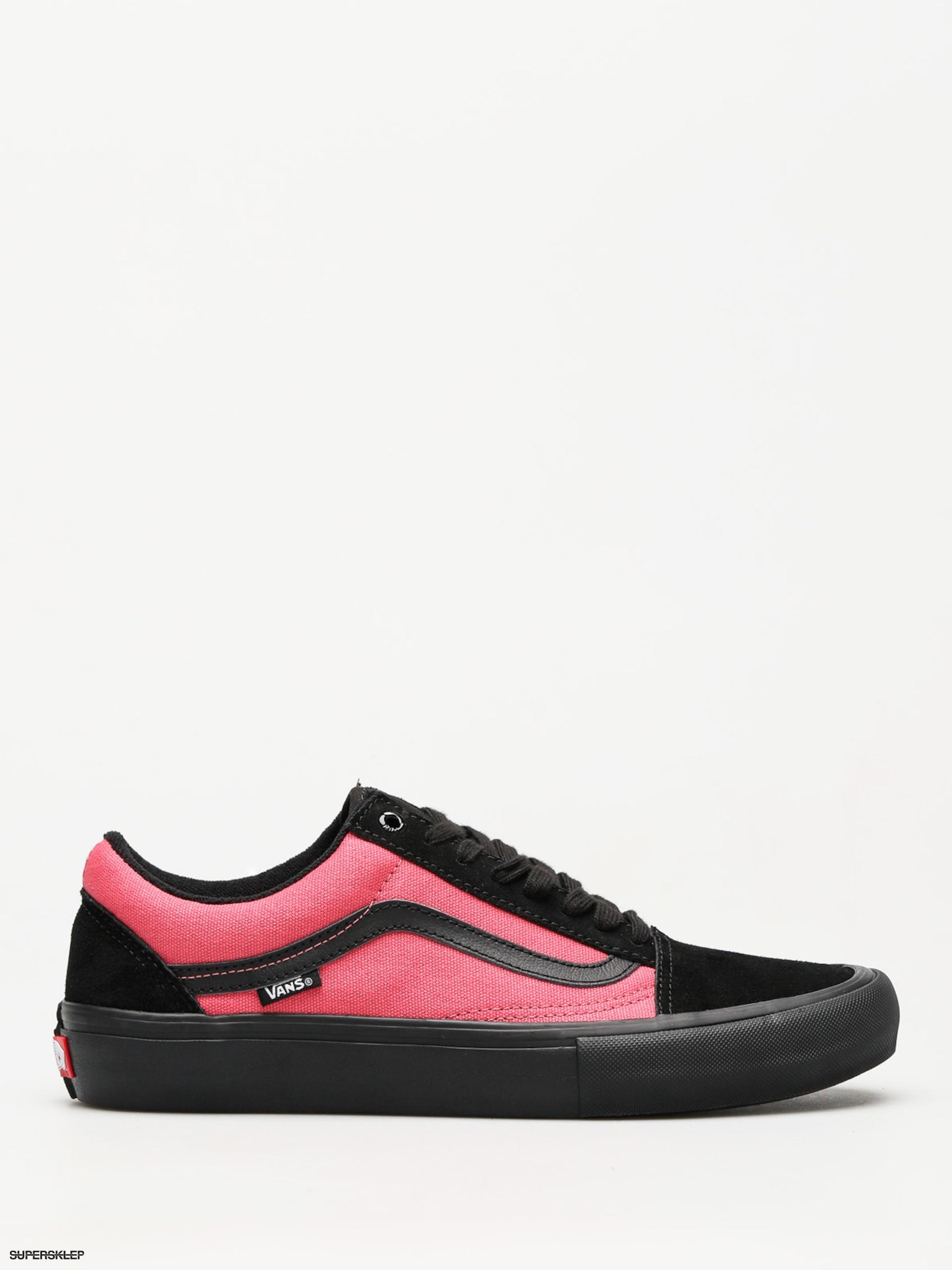 Vans Slip On Pro Asymmetrical Black, Blue, Red & White Skate Shoes
