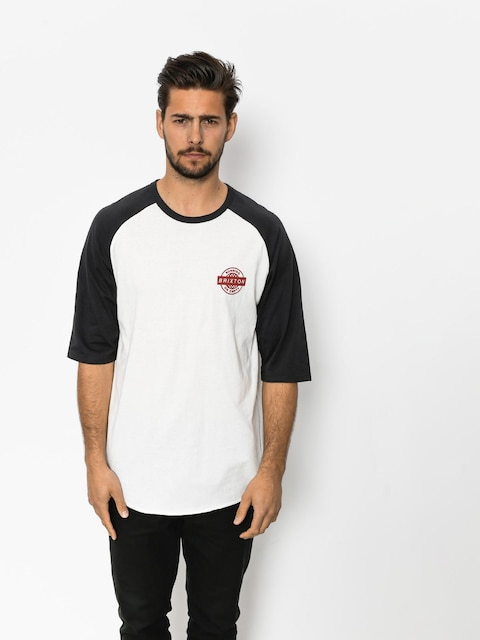 T-shirt Brixton Speedway 1/2 Slv (off white/washed black)