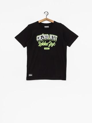 T-shirt Diamante Wear Ciężko Jest Lekko Żyć (black/white/green)