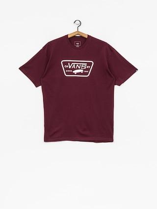 T-shirt Vans Full Patch (burgundy/white)