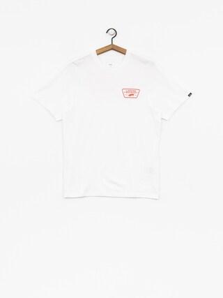 T-shirt Vans Full Patch Back (white/flame)