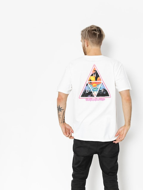 T-shirt HUF Good Trips Trangle (white)