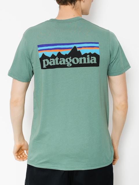 T-shirt Patagonia Logo Organic (pesto)