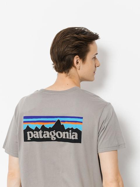 T-shirt Patagonia Logo Organic (feather grey)