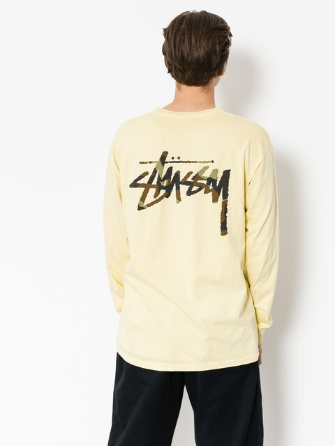 Longsleeve Stussy Camo Stock Pig Dyed Pkt (yellow)