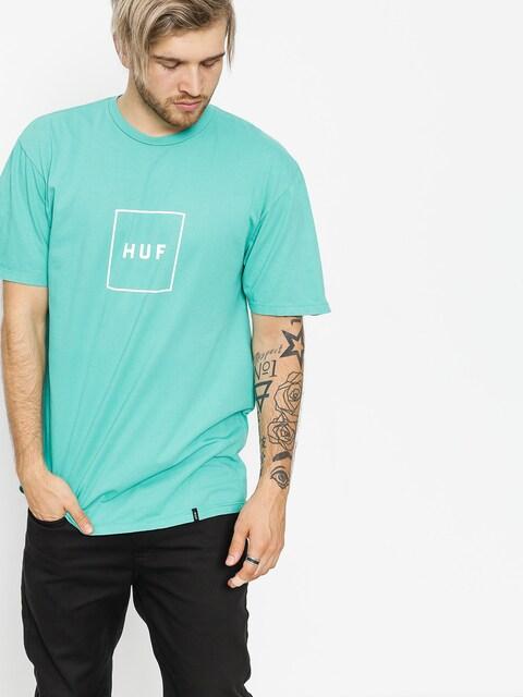 T-shirt HUF Essentials Box Logo (bright aqua)