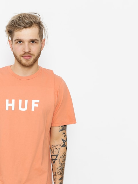 T-shirt HUF Essentials Og Logo (coral haze)