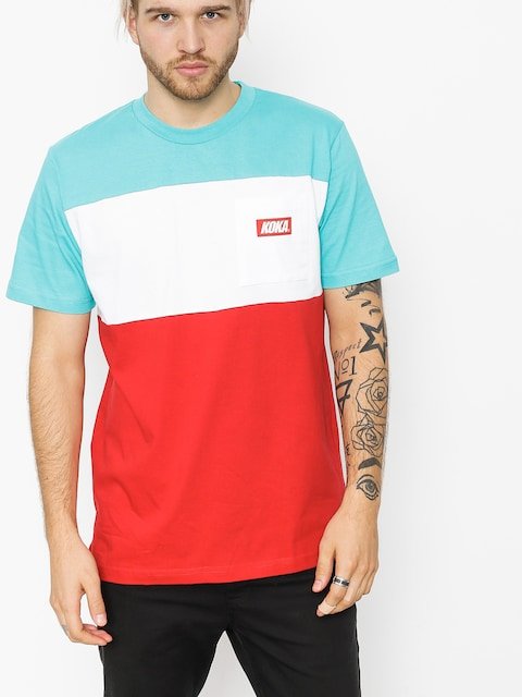 T-shirt Koka Isle (turquoise/white/red)