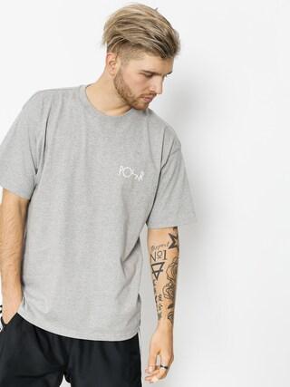 T-shirt Polar Skate Script Logo (heather grey)