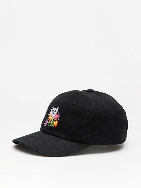 Czapka z daszkiem RipNDip Flowers For Bae Overdye Dad Hat ZD (black)