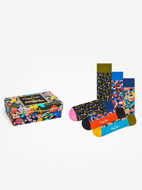 Skarpetki Happy Socks Giftbox 3pk Wiz Khalifa (multi)