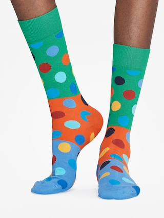 Skarpetki Happy Socks Big Dot Block (green/orange/blue)