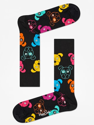 Skarpetki Happy Socks Animal Dog (black/pink)