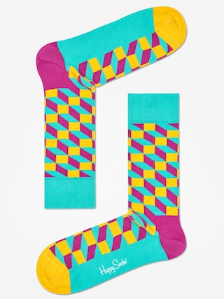 Skarpetki Happy Socks Filled Optic (teal/multi)