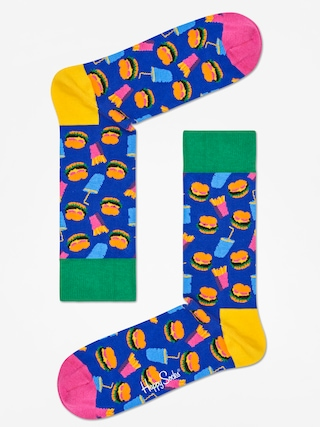 Skarpetki Happy Socks Hamburgers (navy/green/pink)