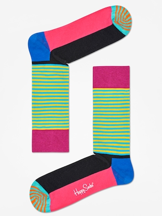 Skarpetki Happy Socks Half Stripe (black pink/multi)