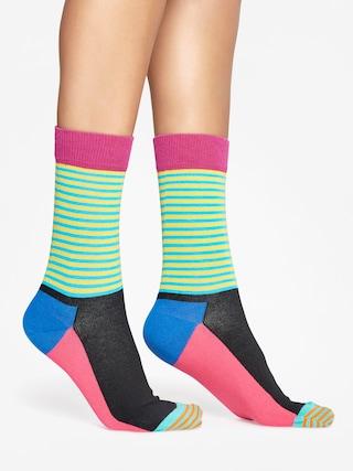 Skarpetki Happy Socks Half Stripe (black pink/multi)