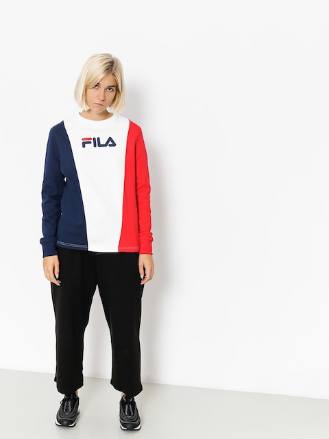 Bluza Fila Sidra Panel Wmn (peacoat/red/white)