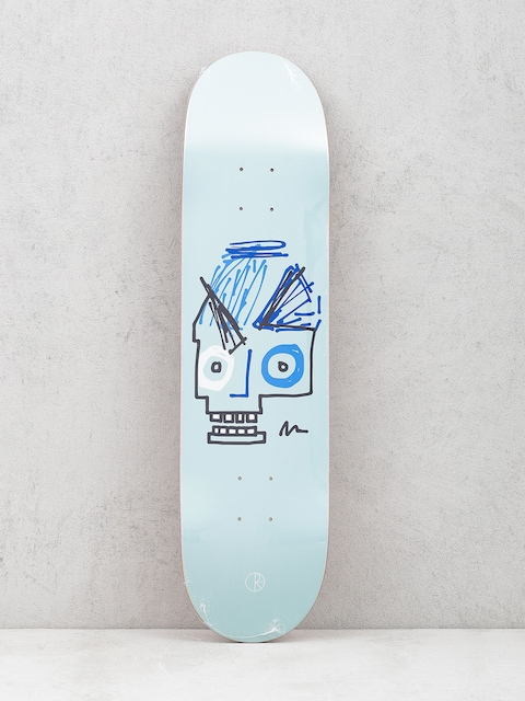 Deck Polar Skate Team Insta Skull (light blue)