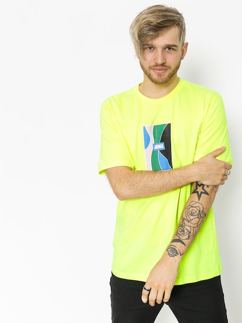 T-shirt Koka Glass (neon green)