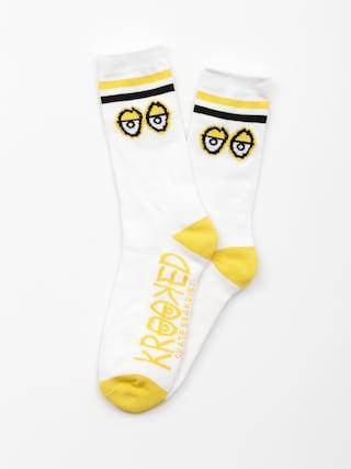 Skarpetki Krooked Big Eyes (white/yellow/black)