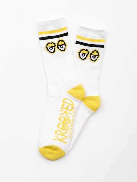 Skarpetki Krooked Big Eyes (white/yellow/black)
