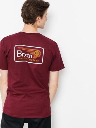 T-shirt Brixton Messenger Stt (burgundy)