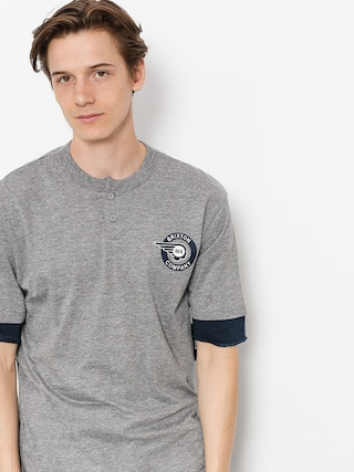 T-shirt Brixton Mercury Henley (heather grey/navy)