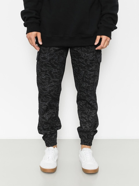 Spodnie Diamante Wear Flight School Hunter Jogger (black camo)