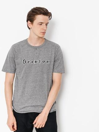 T-shirt Brixton Proxy Henley (heather grey)