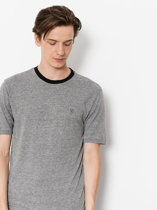 T-shirt Brixton B Shield Prt (heather grey/black)