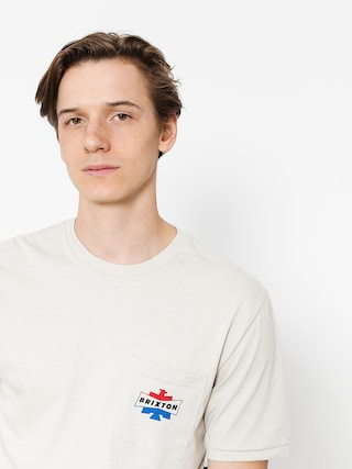 T-shirt Brixton Spencer Pkt (stone)