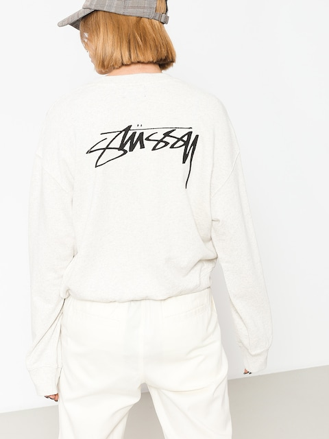 Bluza Stussy Ezra Cropped Baggy Wmn (white heather)