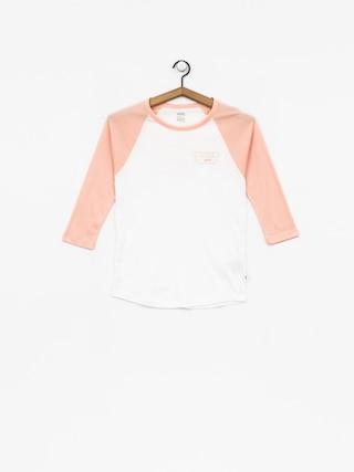 T-shirt Vans Full Patch Raglan Wmn (white/rose cloud)