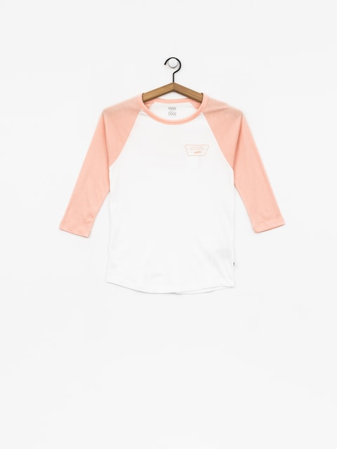 T-shirt Vans Full Patch Raglan Wmn (white/rose cloud)