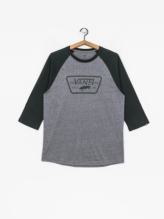 T-shirt Vans Full Patch Raglan (heather grey/darkest spruce)