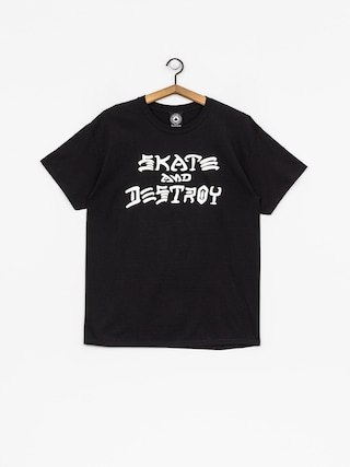 T-shirt Thrasher Skate And Destroy (black)