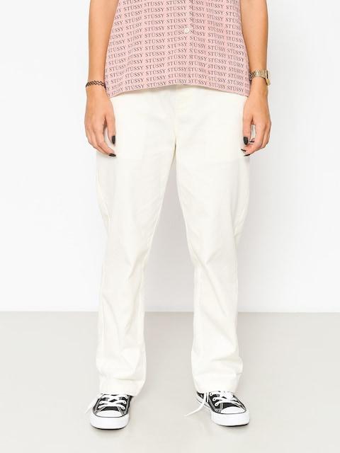 Spodnie Stussy Twill Standard Wmn (off white)