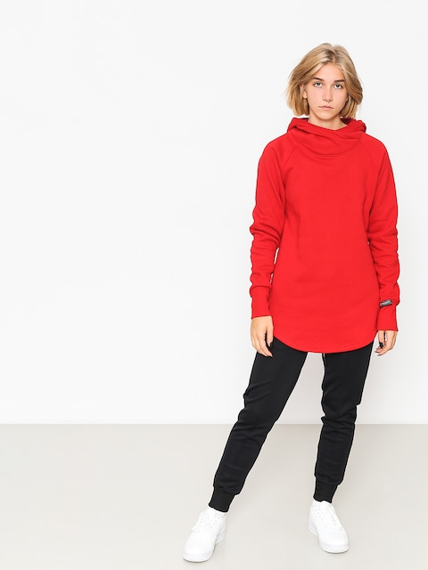 Bluza z kapturem Majesty Velvet Wmn (red)