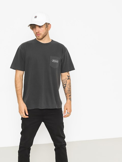 T-shirt Stussy Trucker Pig Dyed Pocket (black)