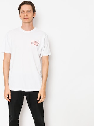 T-shirt Vans Full Patch Back (white/flame)
