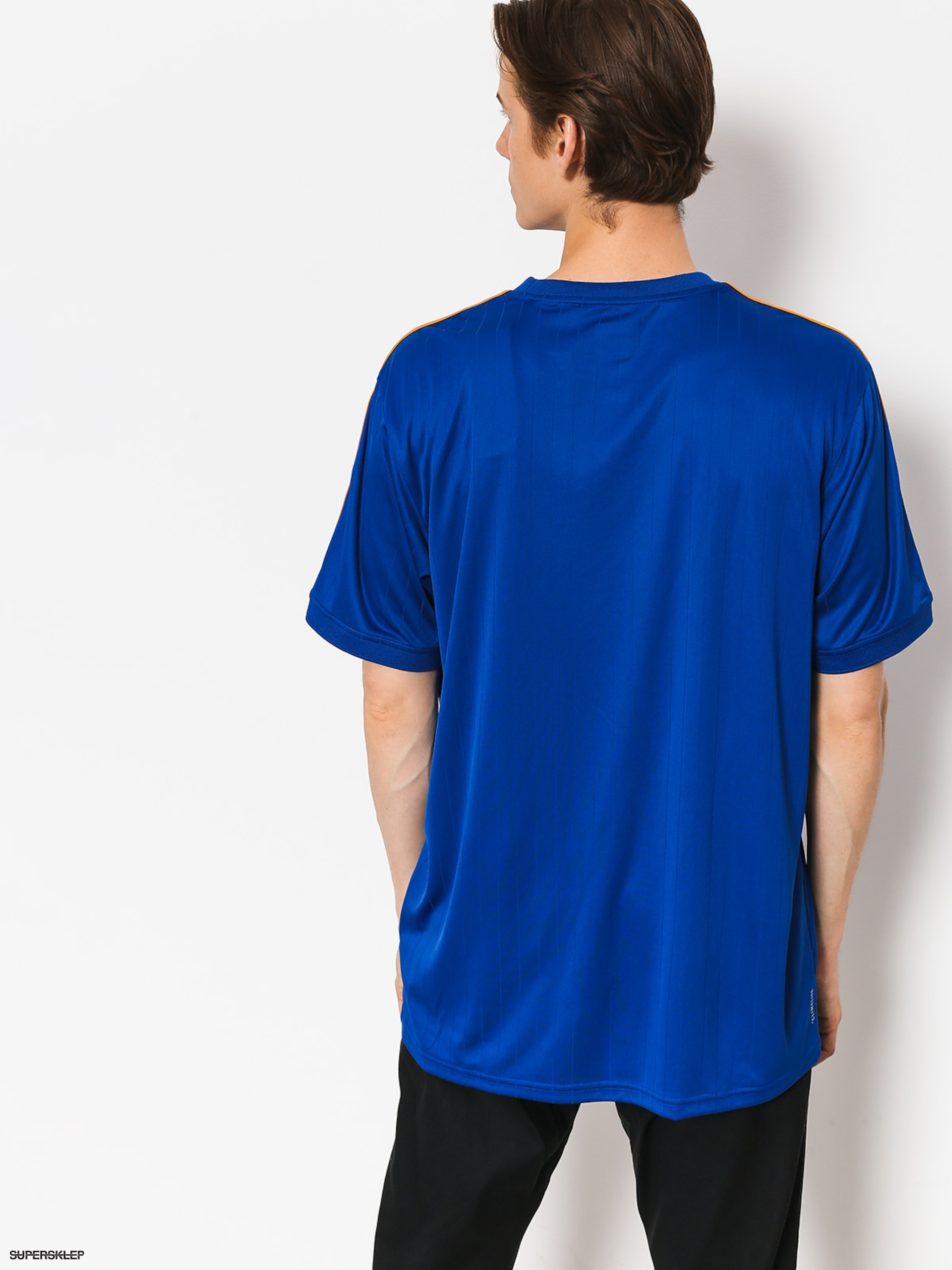T shirt adidas Clima Club Jers (collegiate royaltactile yellow)