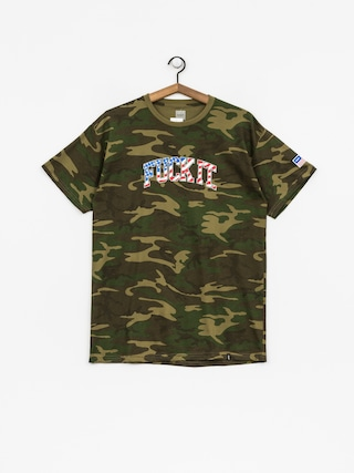 T-shirt HUF Fuck It Camo Flag (woodland camo)